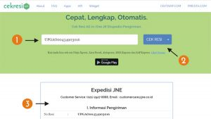 Cek Resi Standard Express Melalui Web Bea Cukai